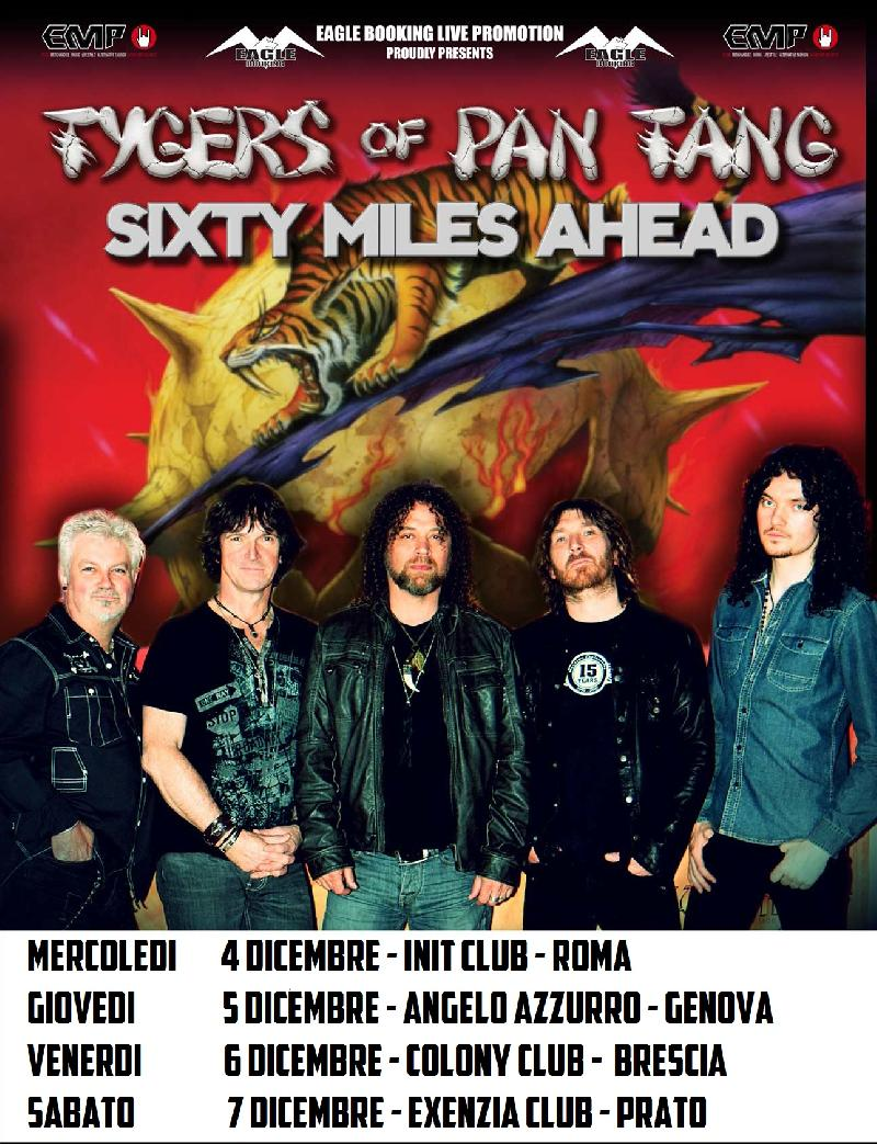 SIXTY MILES AHEAD: i dettagli del tour con i TYGER OF PAN TANG