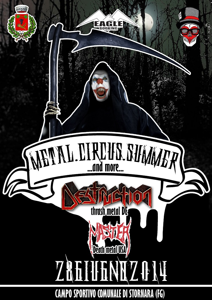 METAL CIRCUS SUMMER: Festival Open Air a Foggia con DESTRUCTION, MASTER ed altri