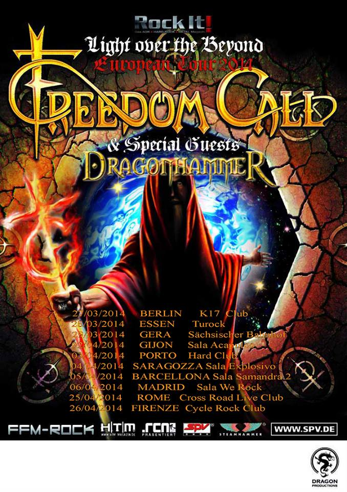 DRAGONHAMMER: in tour con i FREEDOM CALL
