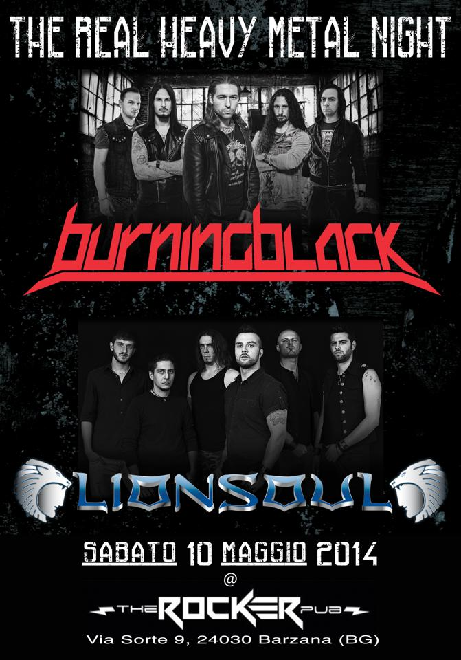BURNING BLACK: live con i LIONSOUL