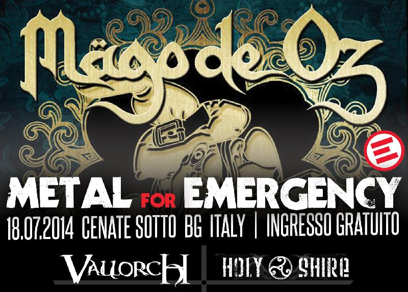 METAL FOR EMERGENCY FESTIVAL 2014: annunciata la presenza di VallorcH e Holy Shire