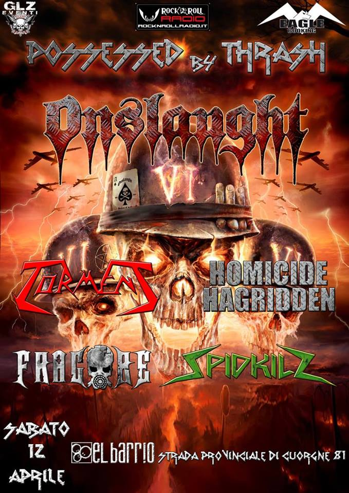 POSSESSED BY THRASH: prima parte del festival con headliner gli ONSLAUGHT