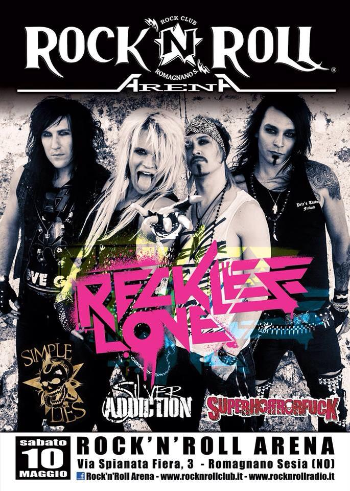 SILVER ADDICTION: support band dei Reckless Love in Italia