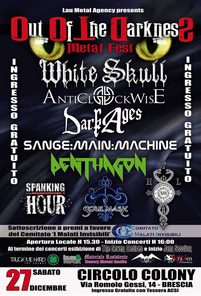 OUT OF THE DARKNESS METAL FEST: i dettagli del fest