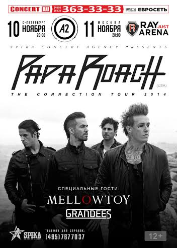 MELLOWTOY: a supporto dei Papa Roach in Russia