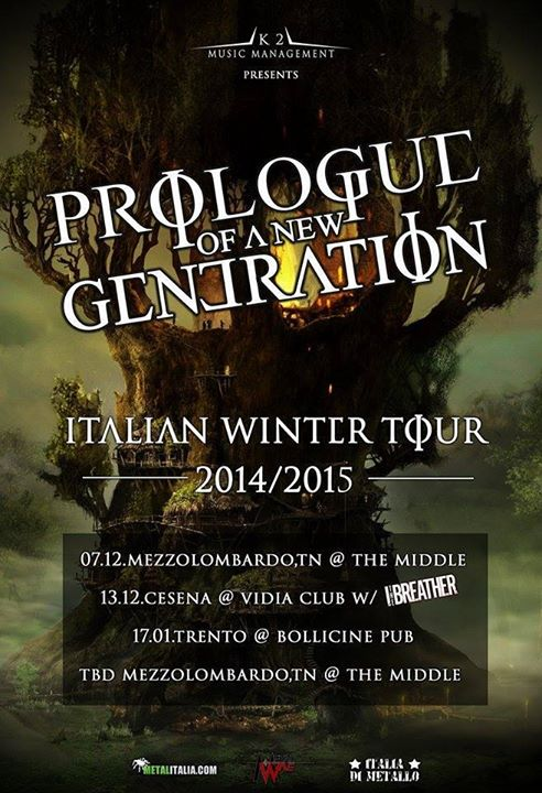 PROLOGUE OF A NEW GENERATION: nuove date annunciate